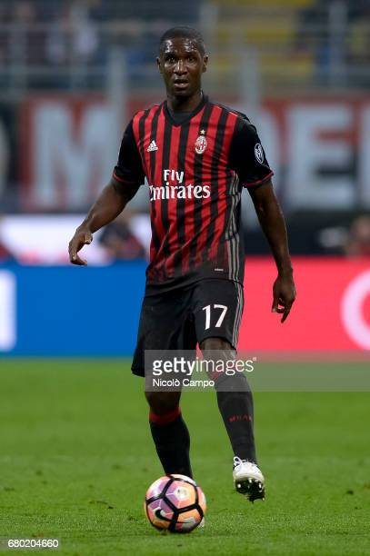 Cristian Zapata of AC Milan in action during the Serie A football match between AC Milan and AS Roma AS Roma wins 41 over AC Milan