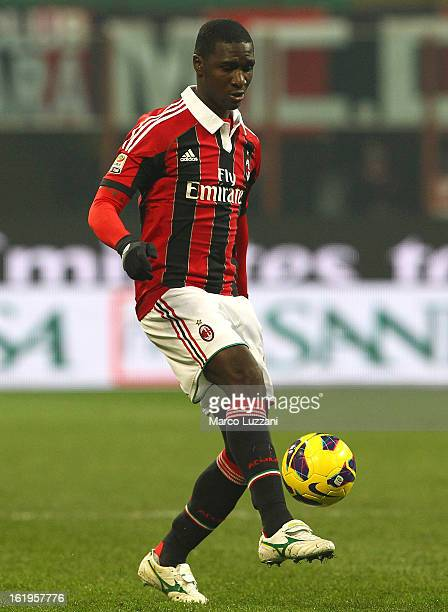 Cristian Zapata of AC Milan in action during the Serie A match between AC Milan and Parma FC at San Siro Stadium on February 15 2013 in Milan Italy