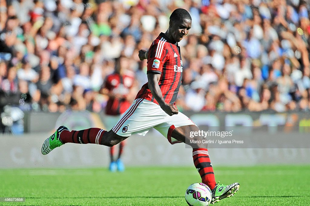 Cristian Zapata # 14 of AC Milan in action during the Serie A match between AC Cesena and AC Milan at Dino Manuzzi Stadium on September 28, 2014 in Cesena, Italy.