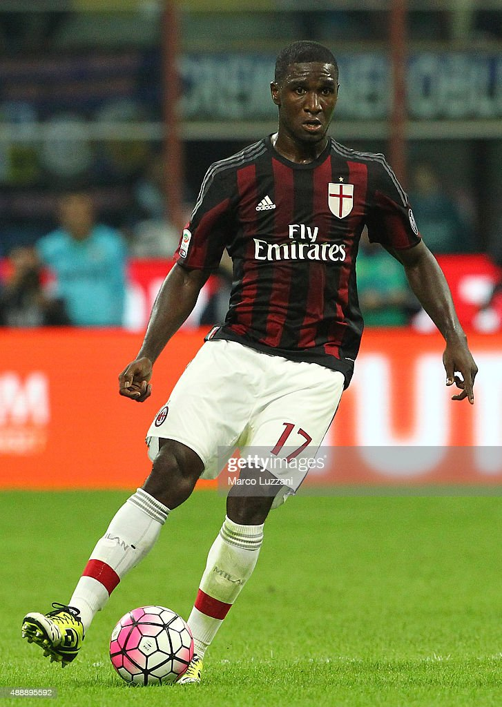 <a gi-track='captionPersonalityLinkClicked' href=/galleries/search?phrase=Cristian+Zapata&family=editorial&specificpeople=854055 ng-click='$event.stopPropagation()'>Cristian Zapata</a> of AC Milan in action during the Serie A match between FC Internazionale Milano and AC Milan at Stadio Giuseppe Meazza on September 13, 2015 in Milan, Italy.