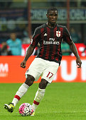 Cristian Zapata of AC Milan in action during the Serie A match between FC Internazionale Milano and AC Milan at Stadio Giuseppe Meazza on September...