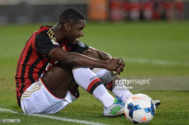 Cristian Zapata of AC Milan looks on during the Serie A match between Udinese Calcio and AC Milan at Stadio Friuli on March 8 2014 in Udine Italy