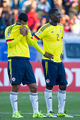 Cristian Zapata of Colombia looks dejected after the 2015 Copa America Chile Group C match between Colombia and Venezuela at El Teniente Stadium on...
