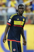 Cristian Zapata of Colombia looks on during a group A match between United States and Colombia at Levi's Stadium as part of Copa America Centenario...