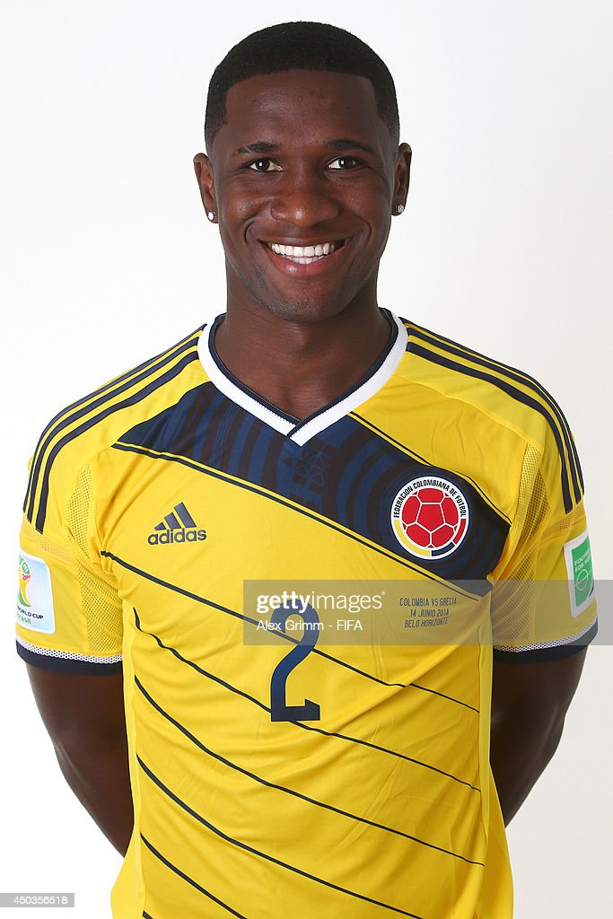 <a gi-track='captionPersonalityLinkClicked' href=/galleries/search?phrase=Cristian+Zapata&family=editorial&specificpeople=854055 ng-click='$event.stopPropagation()'>Cristian Zapata</a> of Colombia poses during the official FIFA World Cup 2014 portrait session on June 9, 2014 in Sao Paulo, Brazil.