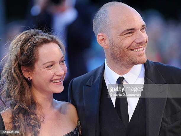 Cristiana Capotondi and Andrea Pezzi attend the 'La Rancon De La Gloire' premiere during the 71st Venice Film Festival on August 28 2014 in Venice...