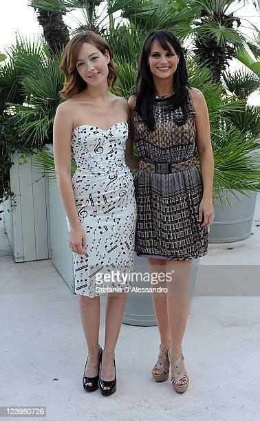 Cristiana Capotondi and Lorena Bianchetti attends 'Una Vita Nel Cinema' Award at Palazzo del Cinema on September 6 2011 in Venice Italy