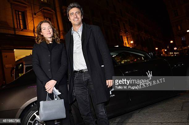 Cristiana Capotondi and Pierfrancesco Diliberto 'Pif' attend the 31st Torino Film Fest on November 25 2013 in Turin Italy