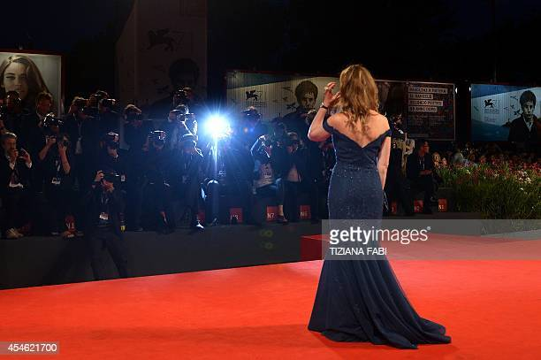Cristiana Capotondi arrives for the screening of the movie 'Pasolini' presented in competition at the 71st Venice Film Festival on September 4 2014...