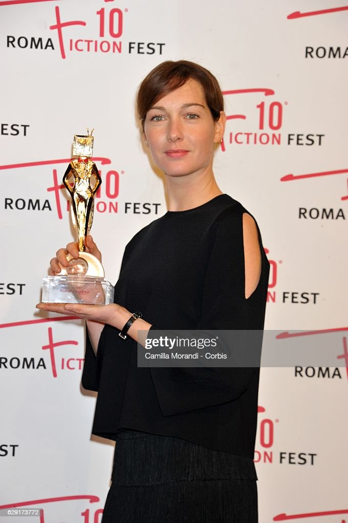 Cristiana Capotondi attends a red carpet for the Fiction Fest Award on December 11, 2016 in Rome, Italy.