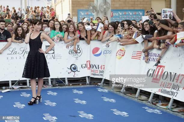 Cristiana Capotondi attends Giffoni Film Festival 2017 blue carpet on July 19 2017 in Giffoni Valle Piana Italy