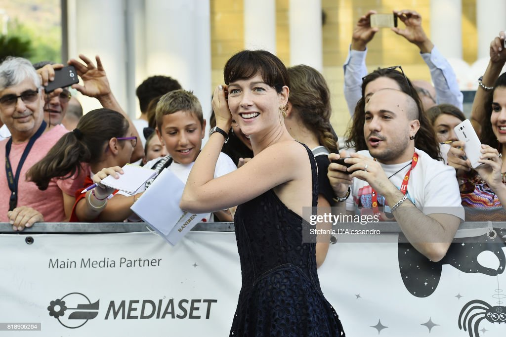 Cristiana Capotondi attends Giffoni Film Festival 2017 Day 6 Blue Carpet on July 19, 2017 in Giffoni Valle Piana, Italy.