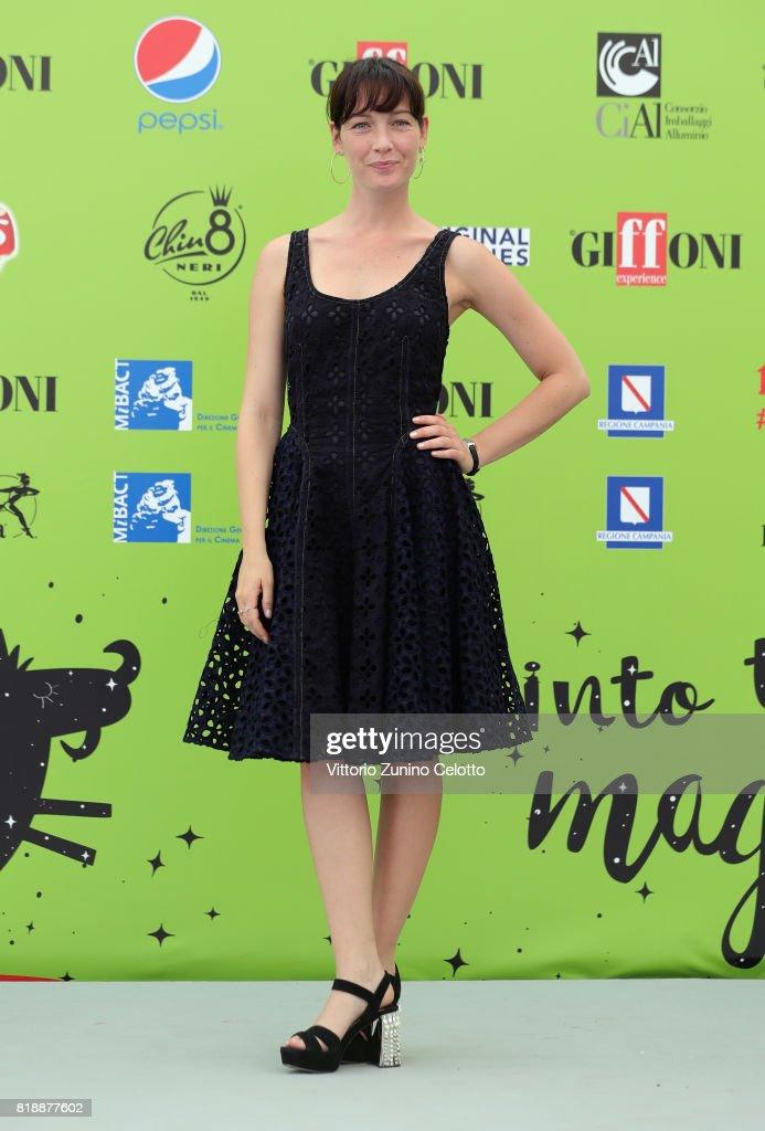 Cristiana Capotondi attends Giffoni Film Festival 2017 on July 19, 2017 in Giffoni Valle Piana, Italy.
