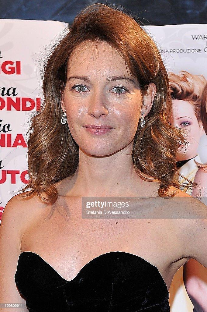 Cristiana Capotondi attends 'Il Peggior Natale Della Mia Vita' Premiere on November 21, 2012 in Milan, Italy.