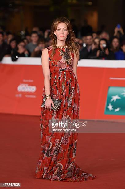 Cristiana Capotondi attends the awards ceremony red carpet during the 9th Rome Film Festival at Auditorium Parco Della Musica on October 25 2014 in...