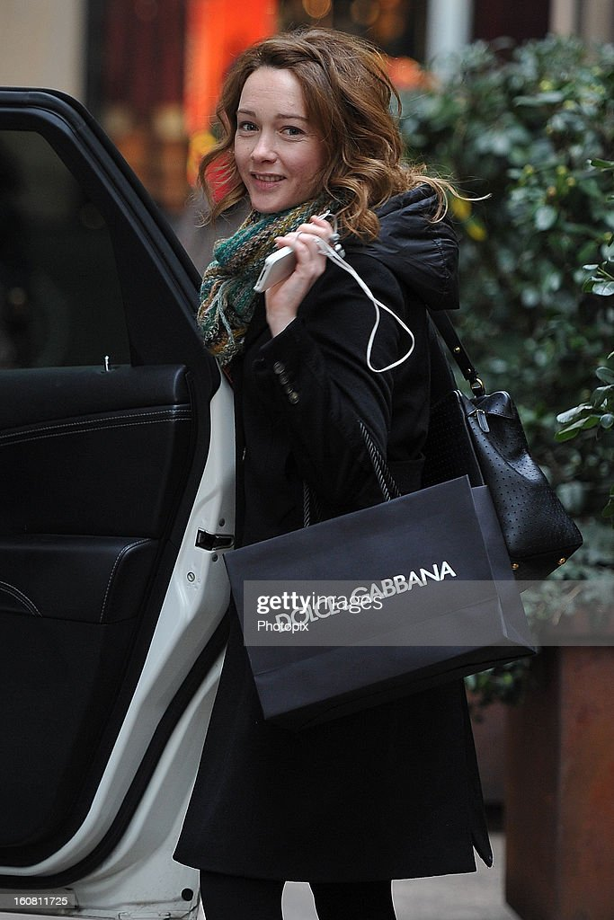 Cristiana Capotondi is seen on February 6, 2013 in Milan, Italy.