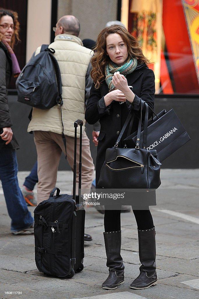 Cristiana Capotondi is seen on February 6, 2013 in Milan, Italy.