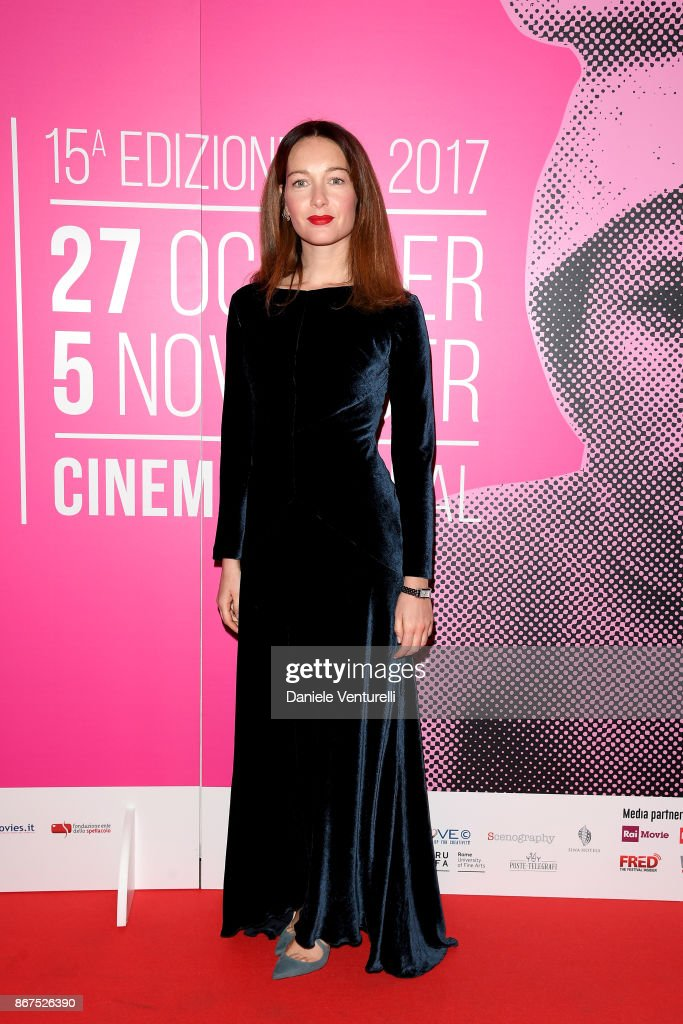 Cristiana Capotondi walks a red carpet for 'Metti Una Notte' during the 12th Rome Film Fest on October 28, 2017 in Rome, Italy.