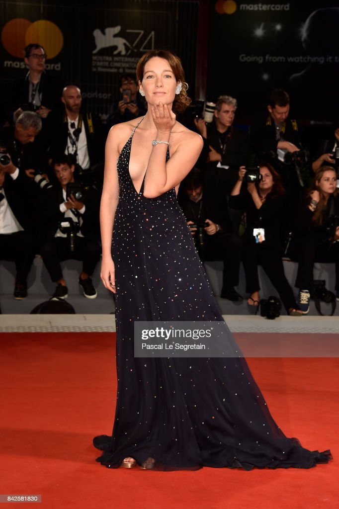 Cristiana Capotondi walks the red carpet ahead of the 'Three Billboards Outside Ebbing, Missouri' screening during the 74th Venice Film Festival at Sala Grande on September 4, 2017 in Venice, Italy.