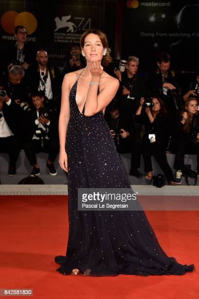 Cristiana Capotondi walks the red carpet ahead of the 'Three Billboards Outside Ebbing Missouri' screening during the 74th Venice Film Festival at...
