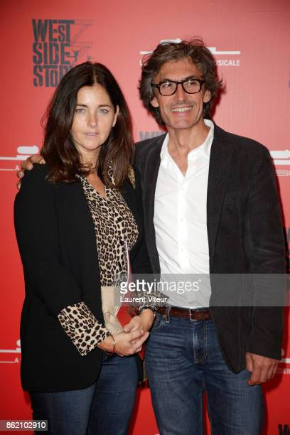 Cristiana Reali and guest attend 'West Side Story' at La Seine Musicale on October 16 2017 in BoulogneBillancourt France