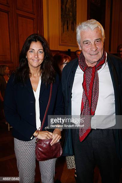 Cristiana Reali and Jacques Weber attend the Wedding of Francois Florent And Kanee Danevong at Mairie Du XVIII on September 12 2014 in Paris France