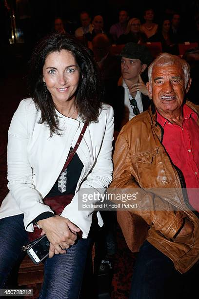 Cristiana Reali and Jean Paul Belmondo attend the 'Concours D'Art Dramatique' at Theatre Antoine on June 16 2014 in Paris France