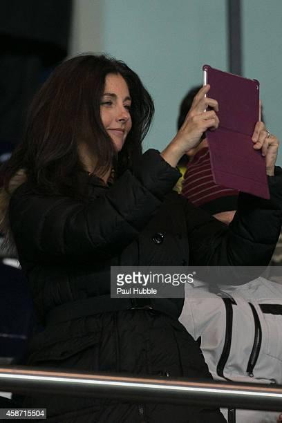 Cristiana Reali attends the Paris Saint Germain vs Olympique de Marseille football match at Parc des Princes on November 9 2014 in Paris France