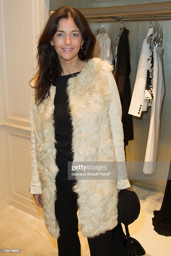 Cristiana Reali attends the signing of Francis Huster's book 'And Dior Created Woman' at Dior Boutique on November 19, 2012 in Paris, France.