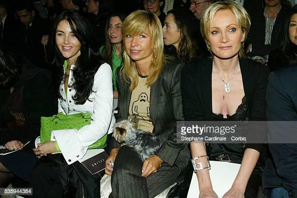 Cristiana Reali Natty Belmondo and Patricia Kass attend the 2004 Celine fashion show