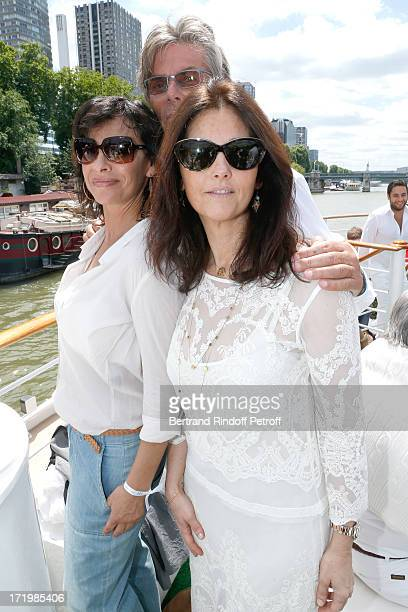 Cristiana Reali promoter of the day CEO Barriere Group Dominique Desseigne and Mathilda May attend 'Brunch Blanc' hosted by Groupe Barriere for...
