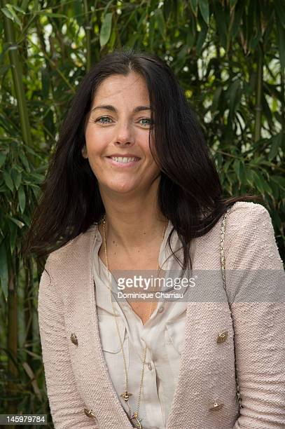 Cristiana Reali sighting during the French open at Roland Garros on June 8 2012 in Paris France