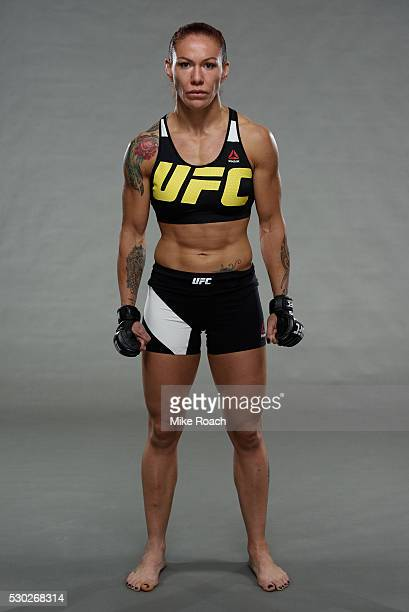 Cristiane 'Cyborg' Justino poses for a portrait during a UFC photo session at the Four Points by Sheraton on May 10 2016 in Curitiba Brazil