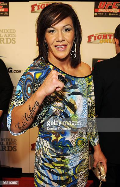 Cristiane 'Cyborg' Santos arrives at the 'Fighters Only' World Mixed Martial Arts Awards at Hard Rock Hotel and Casino on December 30 2009 in Las...