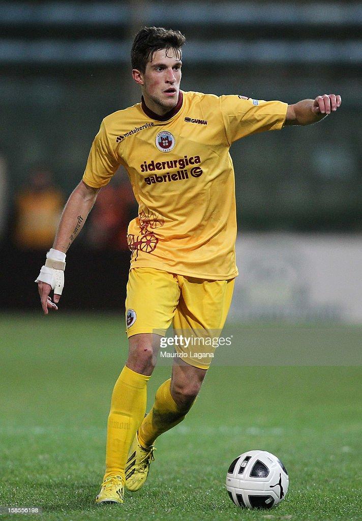 Cristiano Biraghi of Cittadella during the Serie B match between Reggina Calcio and AS Cittadella at Stadio Oreste Granillo on December 17 2012 in...