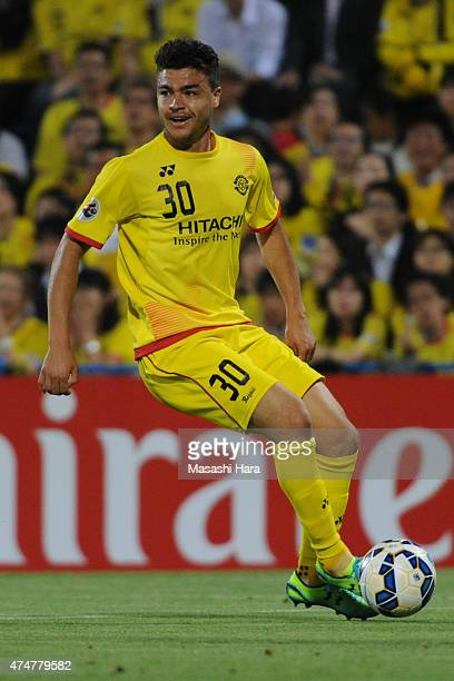 Cristiano Da Silva of Kashiwa Reysol in action during the AFC Champions League Round of 16 match between Kashiwa Reysol and Suwon Samsung FC at...