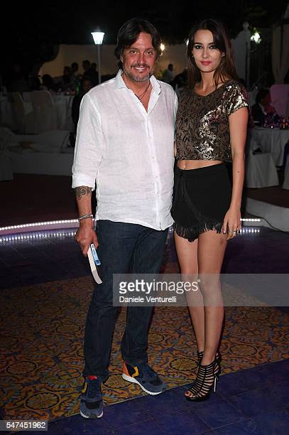 Cristiano De Andre and Ottavia Pojaghi Bettoni attend the 2016 Ischia Global Film Music Fest on July 14 2016 in Ischia Italy