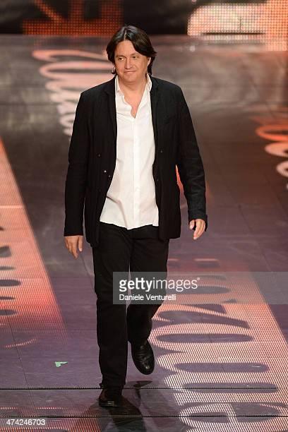 Cristiano De Andre attends closing night of the 64th Festival di Sanremo 2014 at Teatro Ariston on February 22 2014 in Sanremo Italy