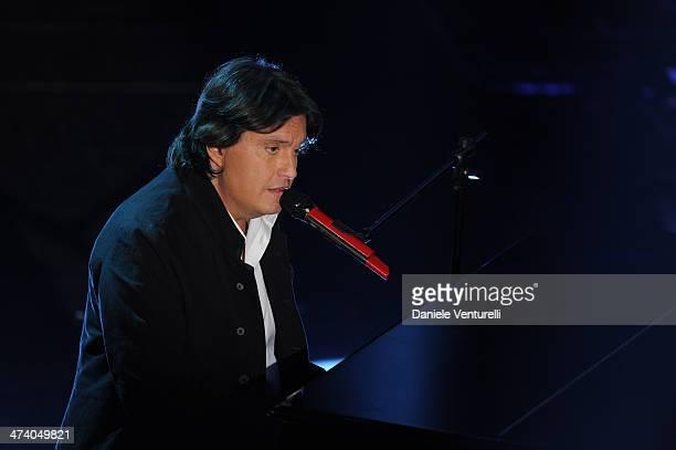 Cristiano De Andre attends fourth night of the 64th Festival di Sanremo 2014 at Teatro Ariston on February 21 2014 in Sanremo Italy
