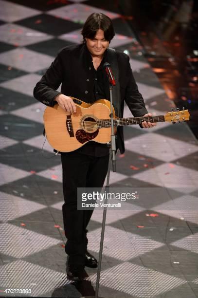 Cristiano De Andre attends opening night of the 64th Festival di Sanremo 2014 at Teatro Ariston on February 18 2014 in Sanremo Italy