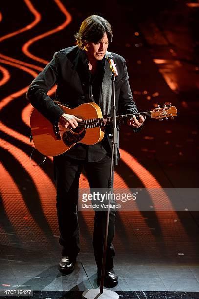 Cristiano De Andre attends the opening night of the 64th Festival di Sanremo 2014 at Teatro Ariston on February 18 2014 in Sanremo Italy