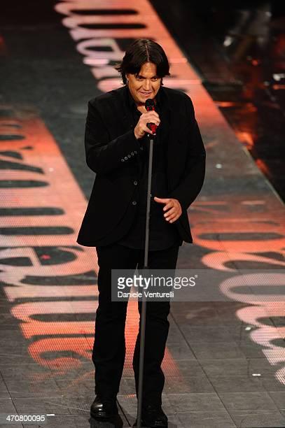 Cristiano De Andre attends the third night of the 64th Festival di Sanremo 2014 at Teatro Ariston on February 20 2014 in Sanremo Italy
