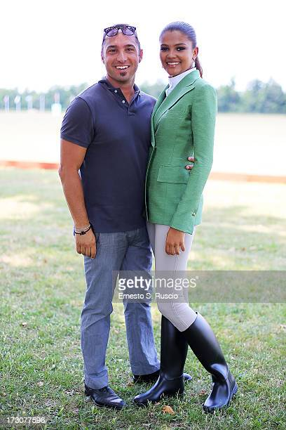 Cristiano De Masi and Agnes Gerry attend the X Polo Fashion Day as part of AltaRoma AltaModa Fashion Week Autumn/Winter 2013 on July 6 2013 in Rome...