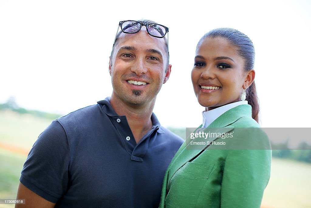 Cristiano De Masi and Agnes Gerry attend the X Polo Fashion Day as part of AltaRoma AltaModa Fashion Week Autumn/Winter 2013 on July 6, 2013 in Rome, Italy.