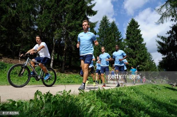 Cristiano Lombardi of SS Lazio during the SS Lazio Training Camp Day 4 on July 12 2017 in Pieve di Cadore Italy