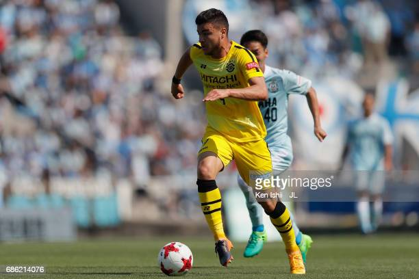Cristiano of Kashiwa Reysol in action during the JLeague J1 match between Jubilo Iwata and Kashiwa Reysol at Yamaha Stadium on May 20 2017 in Iwata...