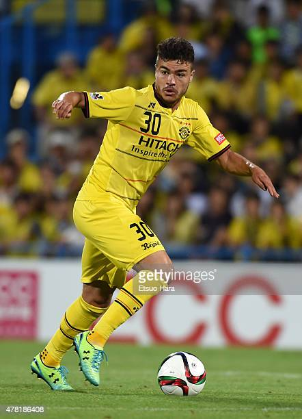 Cristiano of Kashiwa Reysol in action during the JLeague match between Kashiwa Reysol and Gamba Osaka at Hitachi Kashiwa Soccer Stadium on June 23...