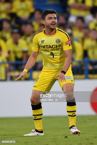 Cristiano of Kashiwa Reysol reacts during the JLeague J1 match between Kashiwa Reysol and Ventforet Kofu at Hitachi Kashiwa Soccer Stadium on...