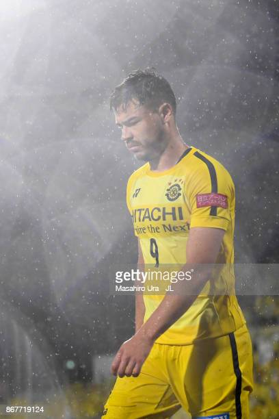 Cristiano of Kashiwa Reysol shows dejection after the 22 draw in the JLeague J1 match between Kashiwa Reysol and Kawasaki Frontale at Hitachi Kashiwa...