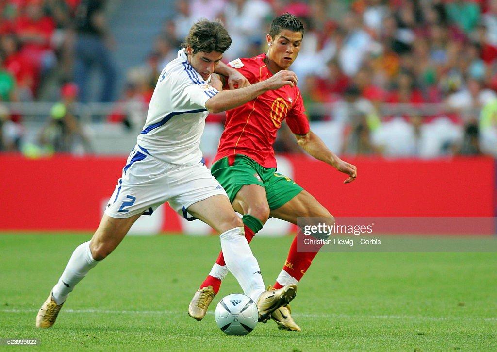 Cristiano Ronaldo and Giourkas Seitaridis